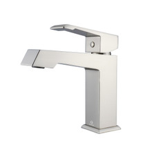Lexora Labaro Brass Single Hole Bathroom Faucet - Brushed Nickel