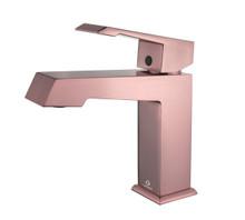 Lexora Labaro Brass Single Hole Bathroom Faucet - Rose Gold
