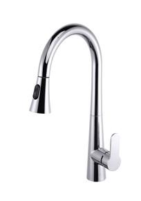 Lexora Furio Brass Kitchen Faucet w/ Pull Out Sprayer - Chrome