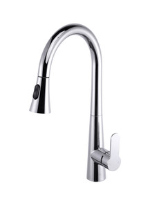Lexora Furio Brass Kitchen Faucet w/ Pull Out Sprayer - Chrome
