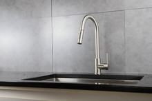 Lexora Olivi Brass Kitchen Faucet w/ Pull Out Sprayer - Brushed Nickel