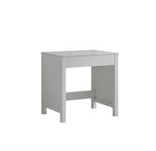 Lexora Jacques 30 Inch White Make-Up Table, White Carrara Marble Top