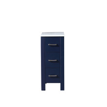 Lexora Volez 12 Inch Navy Blue Side Cabinet, Phoenix Stone Top