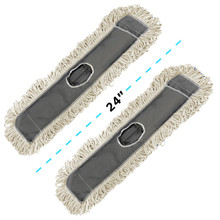 """Alpine 434-24-2  24"""" Cotton Dust/Dry Mop Replacement Head, 2 pack"""
