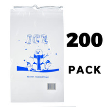 Alpine A1-10-200 10 lb. Clear Plastic Ice Bag with Cotton Drawstring, 1.5 mil - 200 Bags