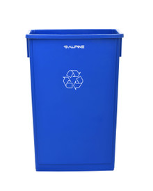 Alpine 477-R-BLU   23 Gallon Blue Slim Recycle Bin
