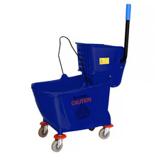 Alpine 462-BLU  36 Qt Mop Bucket with Side Wringer, Blue
