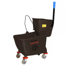 Alpine 462-BRN  36 Qt Mop Bucket with Side Wringer, Brown