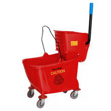 Alpine 462-RED  36 Qt Mop Bucket with Side Wringer,Red