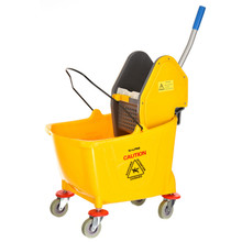 Alpine 462-1  36 Qt Mop Bucket with Down Press Wringer, Yellow