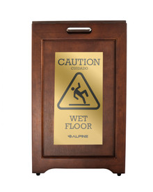 Alpine 499-BRA  2-Sided Brass Plated Wet Floor Sign