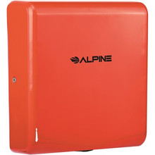 Alpine 405-10-RED WILLOW High Speed Commercial Hand Dryer, 120V, Red