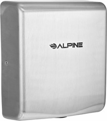 Alpine 405-20-SSB WILLOW High Speed Commercial Hand Dryer, 220V, Stainless Steel Brushed
