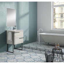 Lucena Bath 3880Ltb Scala 32 Inch Vanity With Sink And Metal Legs And Towel Bar - Abedul