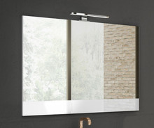Lucena Bath 3133 24 Inch W x 28 Inch H White Vision Mirror With White Frame