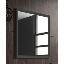 Lucena Bath 2535 24 Inch W x 32 Inch H Grey Decor Mirror With Grey Frame