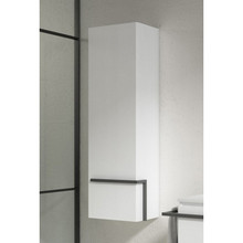 Lucena Bath 3906 Scala Tall Linen Side Cabinet With Left Side Door 13 Inch W x 44 Inch H - White