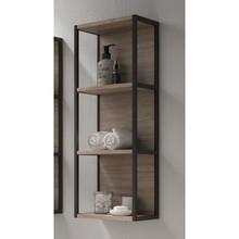 Lucena Bath 3931 Scala Tall Linen Side Cabinet, Open Unit 13 Inch W x 44 Inch H - Terra