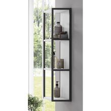 Lucena Bath 3930 Scala Tall Linen Side Cabinet, Open Unit 13 Inch W x 44 Inch H - White