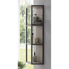 Lucena Bath 3932 Scala Tall Linen Side Cabinet, Open Unit 13 Inch W x 44 Inch H - Quarzo