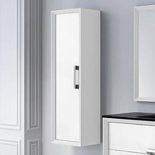 Lucena Bath 4268 Decor Tirador Tall Linen Side Cabinet 14 Inch W x 48 Inch H - White