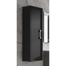 Lucena Bath 4269 Decor Tirador Tall Linen Side Cabinet 14 Inch W x 48 Inch H - Black