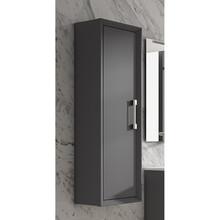 Lucena Bath 4273 Decor Tirador Tall Linen Side Cabinet 14 Inch W x 48 Inch H - Grey