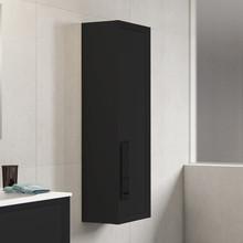 Lucena Bath 4320 Decor Cristal Tall Linen Side Cabinet 14 Inch W x 48 Inch H - Black