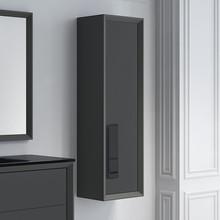 Lucena Bath 4324 Decor Cristal Tall Linen Side Cabinet 14 Inch W x 48 Inch H - Grey