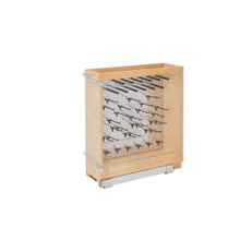 Rev-A-Shelf 444-BCSC-8SS 8 in Stainless Steel Base Cabinet Organizer w/Soft-Close - Natural