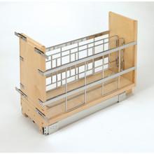 Rev-A-Shelf 447-BCBBSC-5C 5 in Tray Divider, Foil & Wrap Organizer Soft-Close - Natural