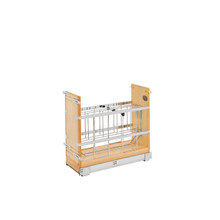 Rev-A-Shelf 447-BCSC-8C 8 in Tray Divider, Foil & Wrap Organizer Soft-Close - Natural
