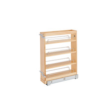 Rev-A-Shelf 448-BC19SC-5C 5 in Wood Vanity Pullout Cabinet Organizer w/Soft-Close - Natural