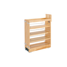 Rev-A-Shelf 448-BCBBSC-8C 8 in Base Cabinet Organizer Soft-Close - Natural