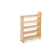 Rev-A-Shelf 448-BCSC-6C 6.5 in Base Cabinet Organizer Soft-Close - Natural