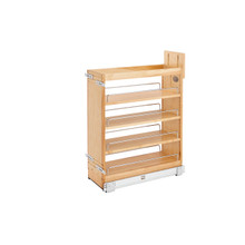 Rev-A-Shelf 448-BCSC-8C 8 in Base Cabinet Organizer Soft-Close - Natural