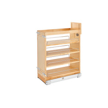 Rev-A-Shelf 448-BCSC-9C 9 in Base Cabinet Organizer Soft-Close - Natural
