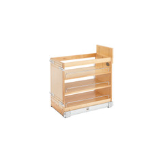 Rev-A-Shelf 448-BDDSC-11C 11 in Door/Drawer Base Cabinet Organizer w/Soft-Close - Natural