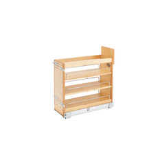 Rev-A-Shelf 448-BDDSC-8C 8 in Door/Drawer Base Cabinet Organizer w/Soft-Close - Natural