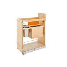 Rev-A-Shelf 448KB-BCSC-11C 11 in Base Cabinet Organizer w/ Knife Block w/Soft-Close - Natural