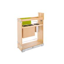 Rev-A-Shelf 448KB-BCSC-8C 8 in Base Cabinet Organizer w/ Knife Block w/Soft-Close - Natural