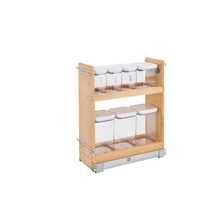 Rev-A-Shelf 448OXO-BCSC-8C 8 in Base Cabinet Organizer w/ OXO Containers w/Soft-Close - Natural
