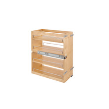 Rev-A-Shelf 449-BCSC-10C 10.5 in Base Cabinet Organizer Soft-Close - Natural