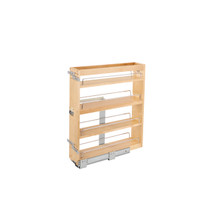 Rev-A-Shelf 449-BCSC-5C 6.25 in Base Cabinet Organizer Soft-Close - Natural