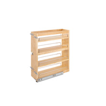 Rev-A-Shelf 449-BCSC-7C 7.5 in Base Cabinet Organizer Soft-Close - Natural