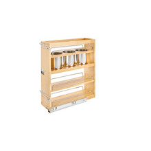 Rev-A-Shelf 449UT-BCSC-7C 7.5 in Base Cabinet Organizer w/ 3 Utensil Bins - Natural