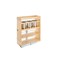 Rev-A-Shelf 449UT-BCSC-8C 9.25 in Base Cabinet Organizer w/ 3 Utensil Bins - Natural