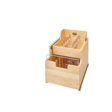 Rev-A-Shelf 4CW2-18SC-1 14.5 in Two-Tier Wood Cookware Organizer - Natural