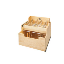 Rev-A-Shelf 4CW2-24SC-1 20.5 in Two-Tier Wood Cookware Organizer - Natural
