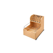 Rev-A-Shelf 4FSCO-18SC-1 Food Storage Container Organizer Soft Close - Natural